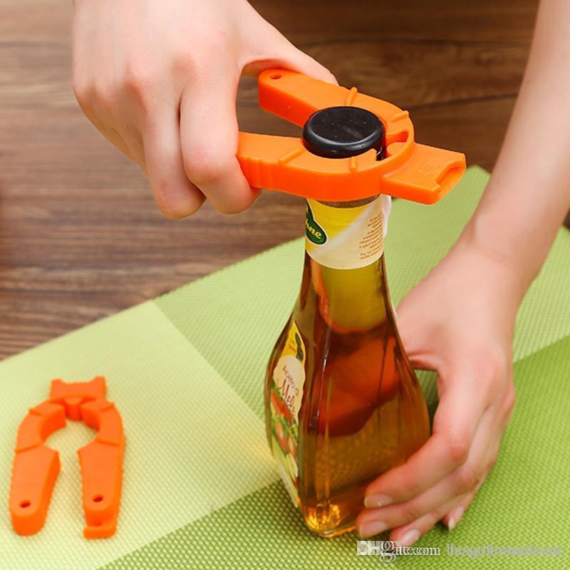 Portátil al aire libre del partido que acampa abrebotellas simple abridor de múltiples funciones de latas de bebidas de cerveza abridor Abridores para niños Cocina ZX Herramientas BH2082
