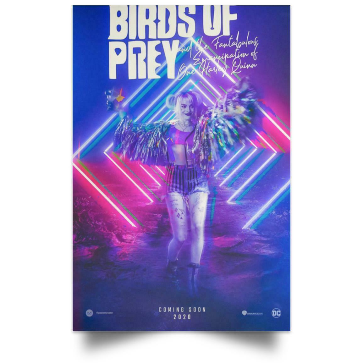 2020 Birds Of Prey Poster Harley Quinn Movie Dc Comics Wall Decor Art Silk Print Poster 889 From Lyshop007 13 26 Dhgate Com