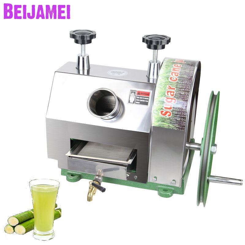 BEIJAMEI Toptan ürünler manuel şeker kamışı sıkacağı ticari şeker kamışı küçük şeker kamışı suyu maker yapma makinesi kırma