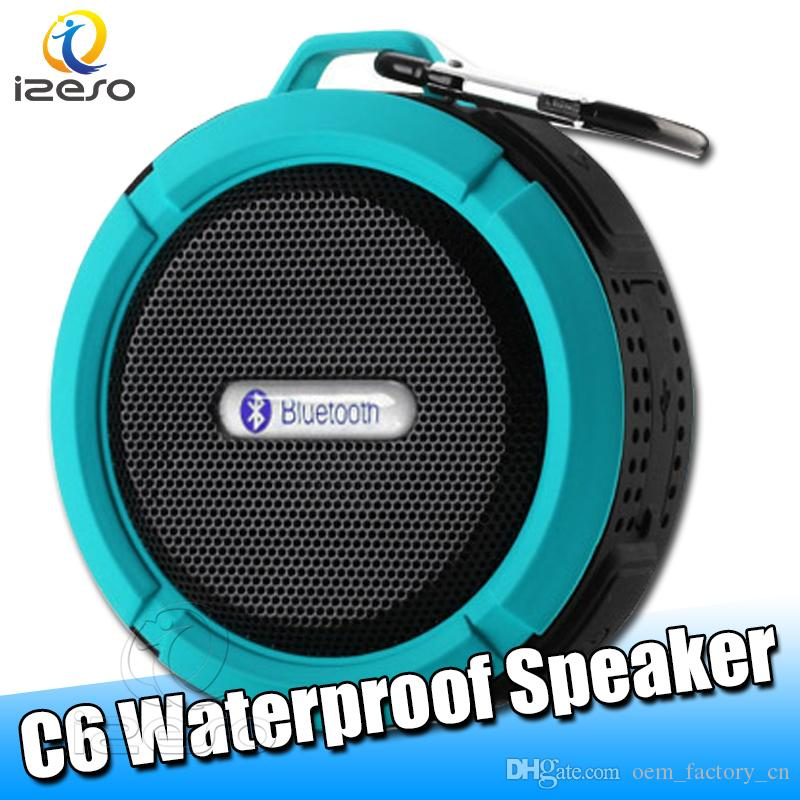 Bluetooth 4.0 Speaker Outdoor Home Wireless Speaker Hook And Suction Cup Stereo Music Player Car Handsfree Waterproof Shower Speakers izeso