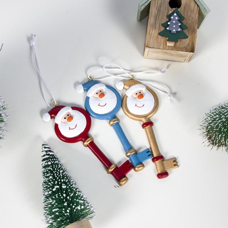 Christmas Series Pendant Key Novelty Boy Girl Christmas Tree Pendant Cute Santa Claus Decor Ornament Party New Year Gift Xmas