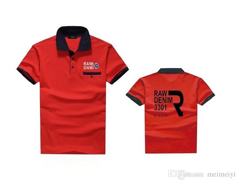 K181570054 frete grátis mens estrela da moda Polo hip hop Camisetas Casual Fitness Skate cor preto bule vermelho