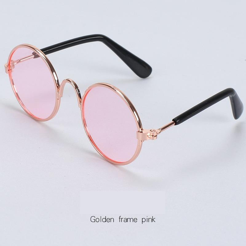 1PC 2020 Fashion Lovely Pet Cat Glasses Dog Glasses Pet Products Kitty Toy Dog Sunglasses Photos 3 Cm Pet Accessoires Round Colorful