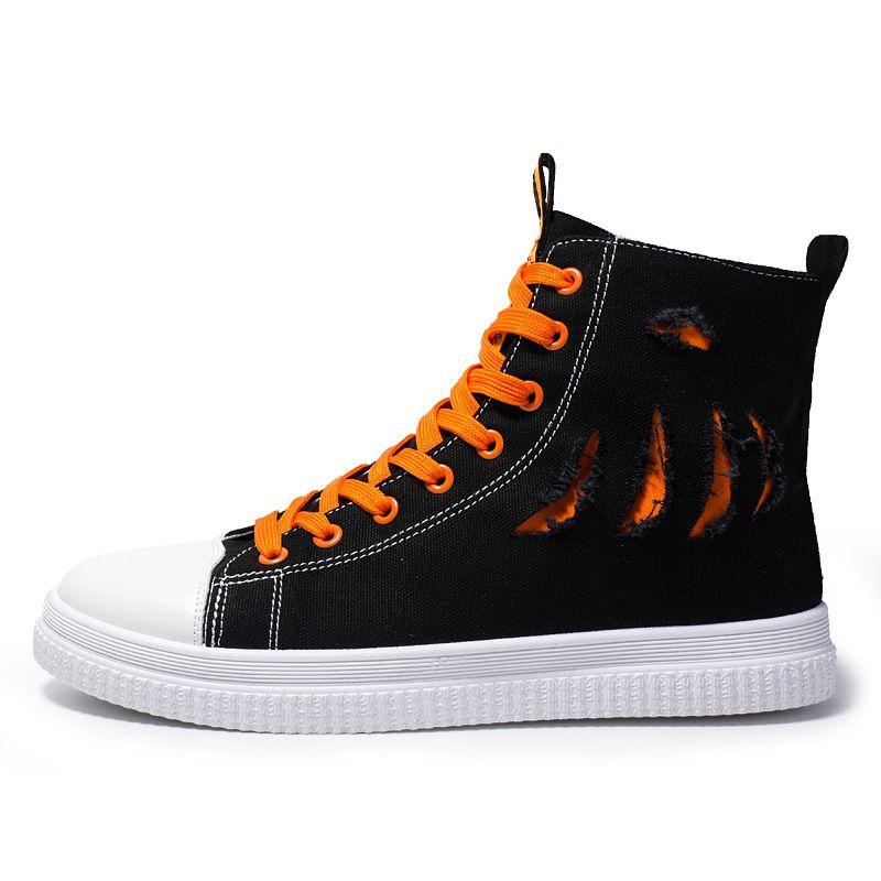 Low/High Top Sneakers Men Canvas Shoes Fashion Hip Hop Style Mens Casual Shoes Hot Sale Trainers Men Sport Shoes Canvas Sneakers