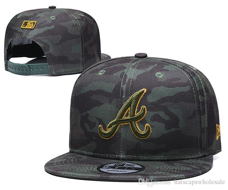 Wholesale Cheap Camo Brave Snapback Cap In Baseball Brands Popular Hip Hop Flat Summer Out Door Adjustable Hat Embroidered Logo Sport Hats