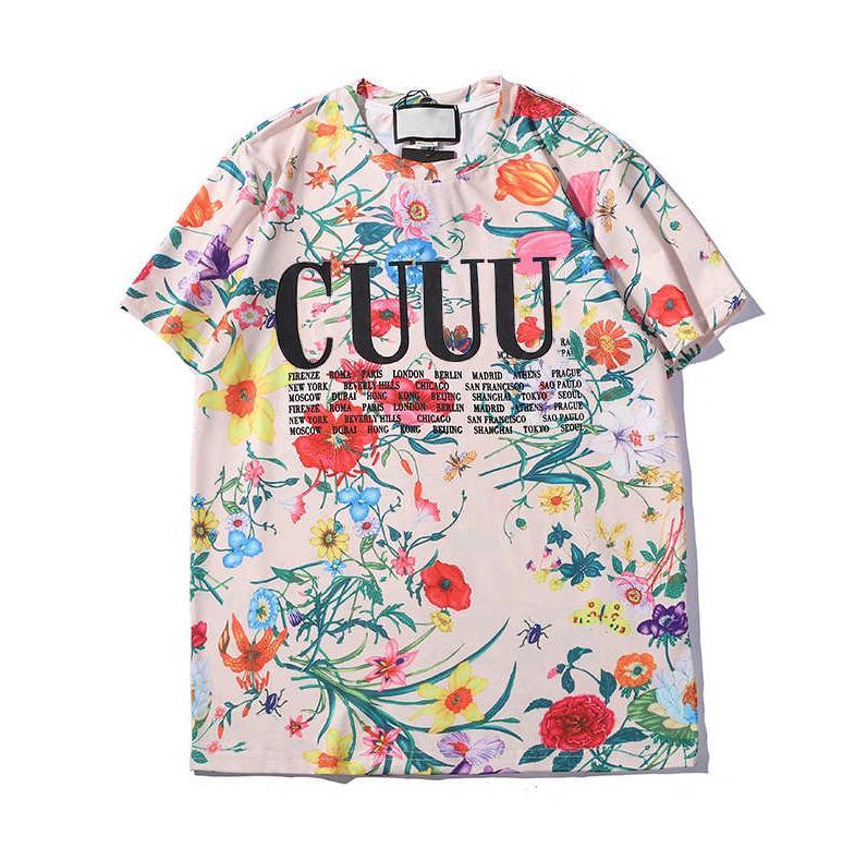 2020 Herren T-Shirt Blumen-Sommer-beiläufige Neue Designer-Kleidung beschriften das gedruckte kurze Hülsen-Muster Bunte T-Shirts Asiatische Größe lll9012403 / 1