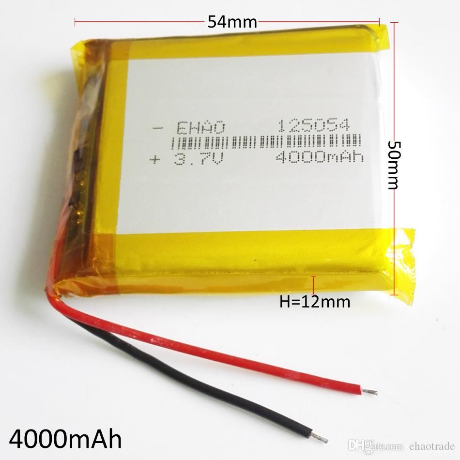 Модель 125054 3.7 В 4000 мАч Литий-Полимерный Li-Po аккумулятор для DVD PAD Мобильный телефон GPS Power Bank Камера Электронные книги Recoder TV box