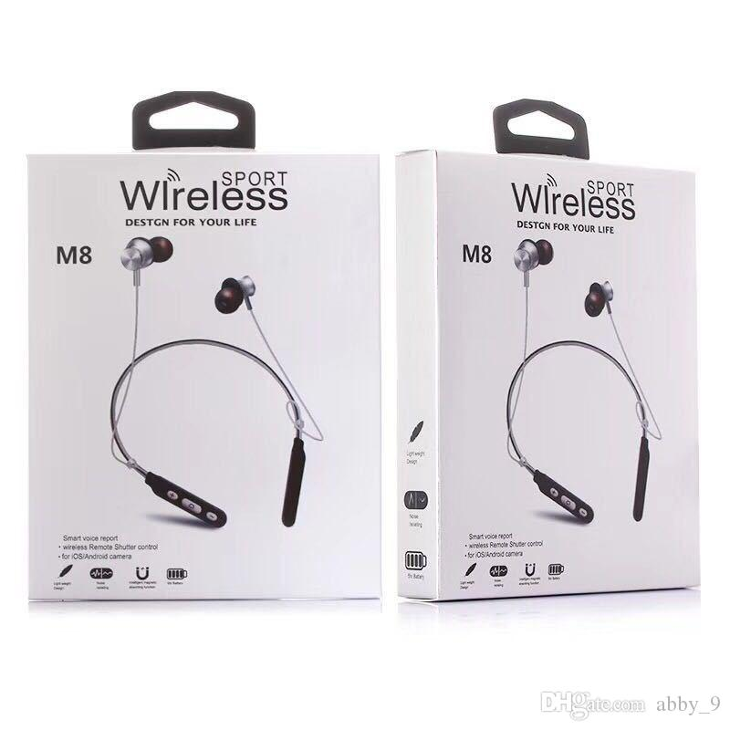 M8 Wireless Bluetooth Headset Neck Support Magnetic Sport Super Bass Earphone For Iphone Xr Xs Max Ios Android Headset Bluetooth Phone Earbuds Cell Phone Earphone From Abby 9 5 86 Dhgate Com