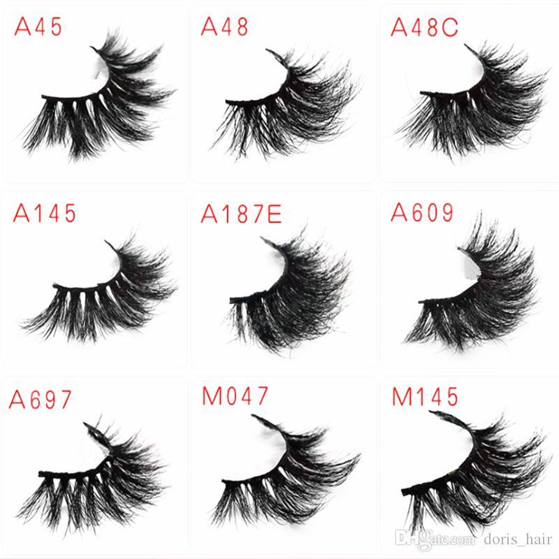 MINK False Eyelashes 5D 25mm LongThick Fashion Lash Blink Black Full Strip Fake Lashes Makeup Tool Free shipping