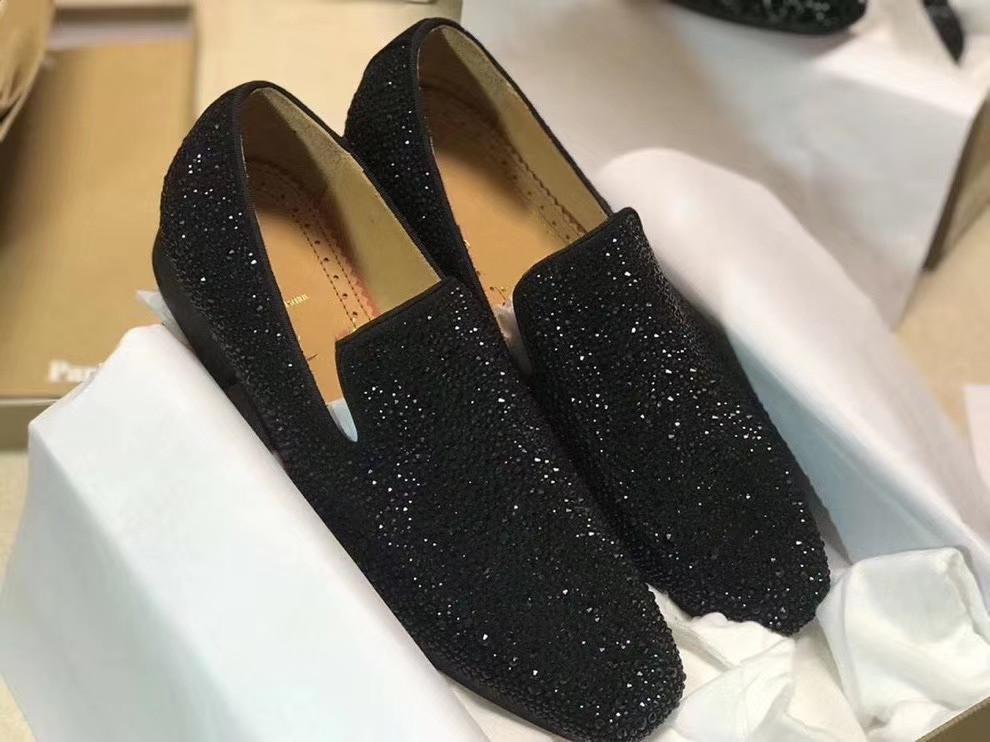 New Hot Moda Vermelho Botten Tênis Greggo Orlato Flat Strass Oxford Sapatos Mens Womens Women Flats Partido de Casamento Mocassins 38-47