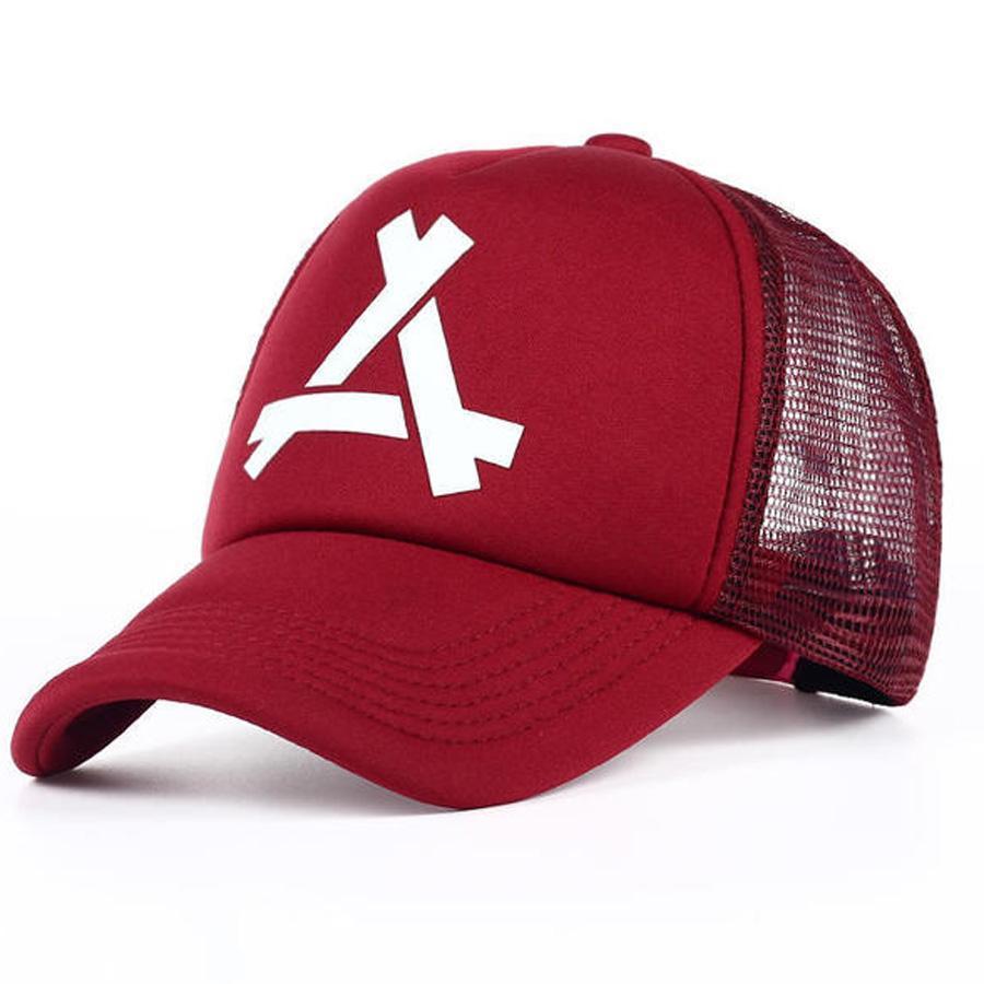 Kadınlar Erkekler mektubu Beyzbol Mesh Cap Unisex Nefes Mesh Tasarım Ayarlanabilir Hip Hop Şapka Erkekler Kızlar Golf Polo Spor Şapkalar DH0784 T03