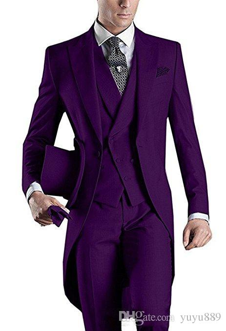 New Linen Men Suits Wedding Suits Slim Fit 3 Pieces Groom Tuxedos Best Mens Prom Suits (Jacket+Pants+Vest) Custom Made