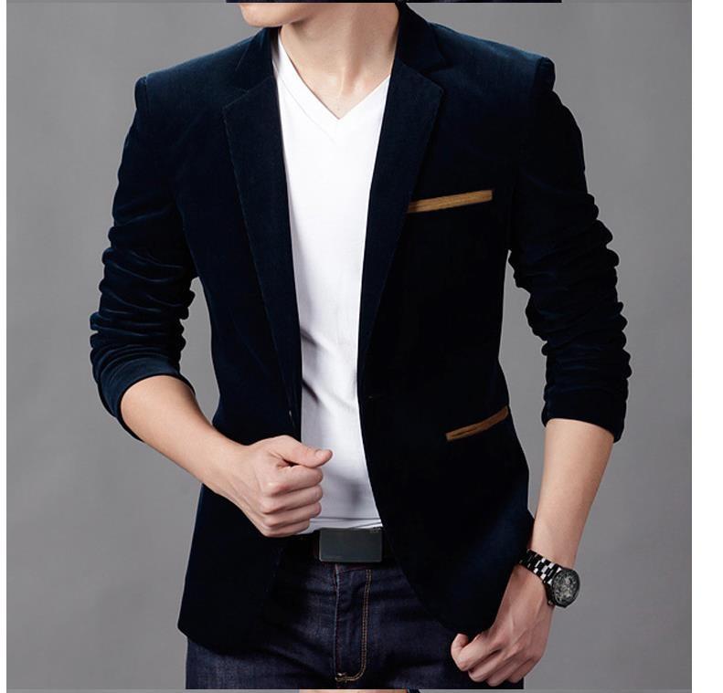 Riinr 새로운 도착 남성 재킷 봄 패션 높은 품질면 슬림핏 남성 정장 Terno Masculino 블레이저스