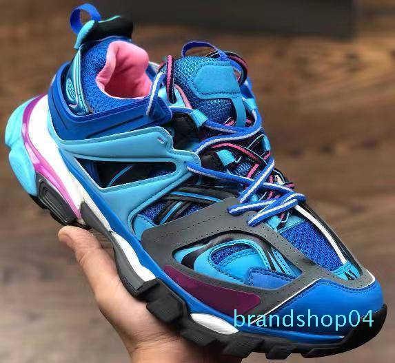 17fw Mode Chaussures Designer Luxe Triple S des femmes des hommes Casual Shoes Track 3.0 Sneakers Espadrilles extérieure chaussure De Sport Pour Homme vb-98