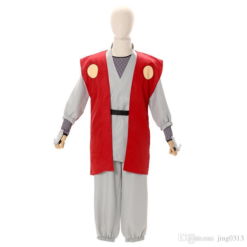 New Cosplay Costume Japan Anime Jiraiya Cosplay Costume Full Set Custom Hot