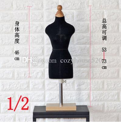 1/2 black female woman body sexy doll mannequin sewing for female clothes,busto dresses form stand1:2 scale Jersey bust can pin 1pc C760