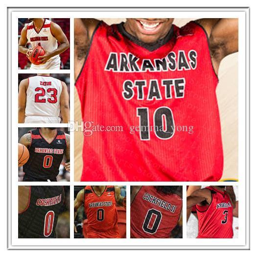 Ncaa Men's Basketball Arkansas State Red Wolves Jerseys CALEB FIELDS JERRY JOHNSON MALIK BREVARD CHRISTIAN WILLIS MELO EGGLESTON EATON Kus