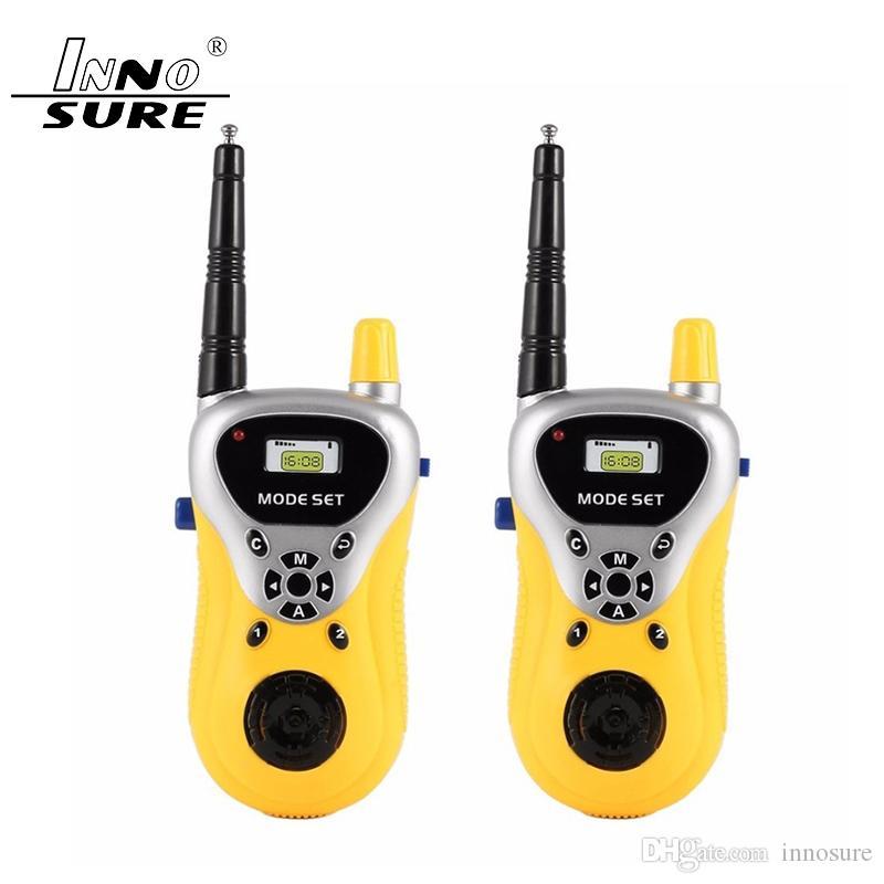 2 pcs / lots Belle Mini Talkie Walkie 409-410 MHz Enfants De Poche Jouet Portable Deux-Way Radio professionnel interphone interactif Enfant Cadeau