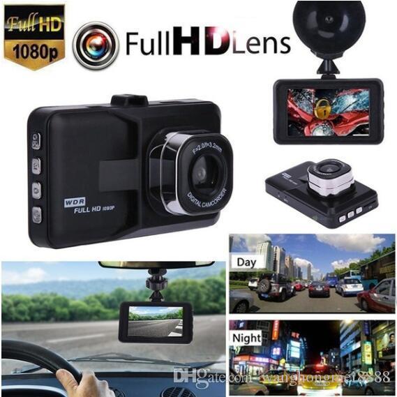 """RUSTAM HASHYMOV 1080P سيارة كاميرا DVR مسجل 3.0 """"شاشة LED للرؤية الليلية الرؤية الخلفية CAMG الاستشعار HD سيارة DVR"""