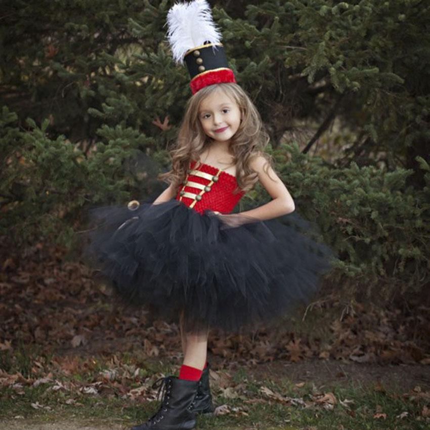 Traje de Halloween para niñas vestido rojo animado de Cosplay Europa Guardia Real Británica niñas pequeño soldado del vestir de los niños Día