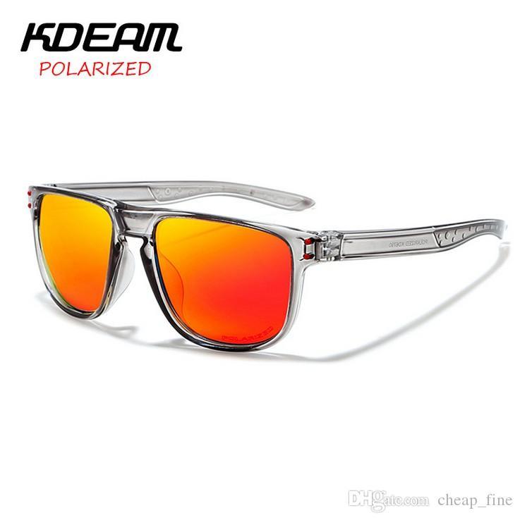 2019 New Style dos homens Óculos De Sol KDEAM designer Polarized Óculos De Sol Dos Homens Clássicos Design Espelho de Condução Óculos De Sol Masculino Óculos KD6790