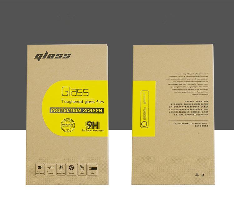 Универсальные коричневой бумаги розничной упаковки Коробки Упаковка для Премиум Закаленное стекло экрана протектор 9Н В 6 дюймов Жесткий пакет 2072
