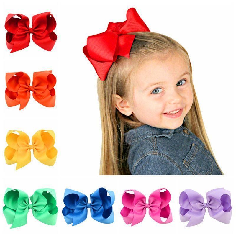 Cute Solid Color луки Bowknot Шпилька ребёнка Hairclip волосы Банты Barrettes 30 цветов Большого размер Клипса для стрижки волосы аксессуары Горячих