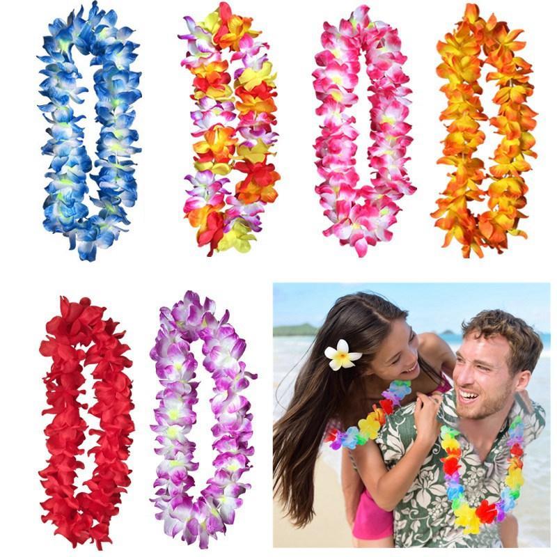 UK Hawaiian Lei Hula Aloha Hawaii Hen Stag Necklace Flower Garland Summer Party