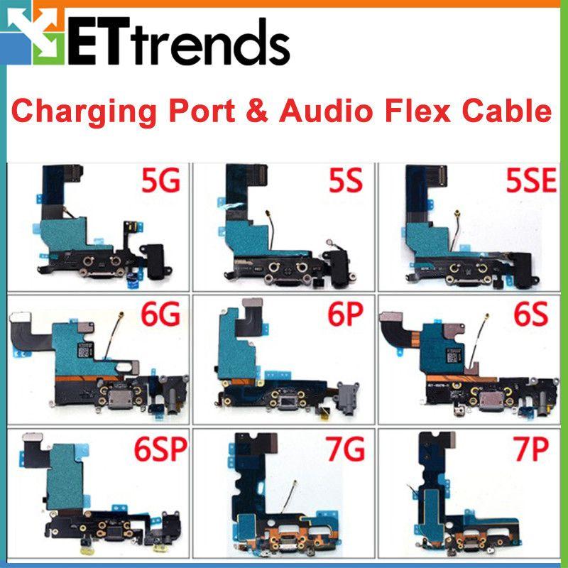 Original a + usb dock conecte a porta carregador para iphone 5 5s se 6 6 p 6 s 6 sp 7 7 p porta de carregamento de áudio flex cable dhl livre