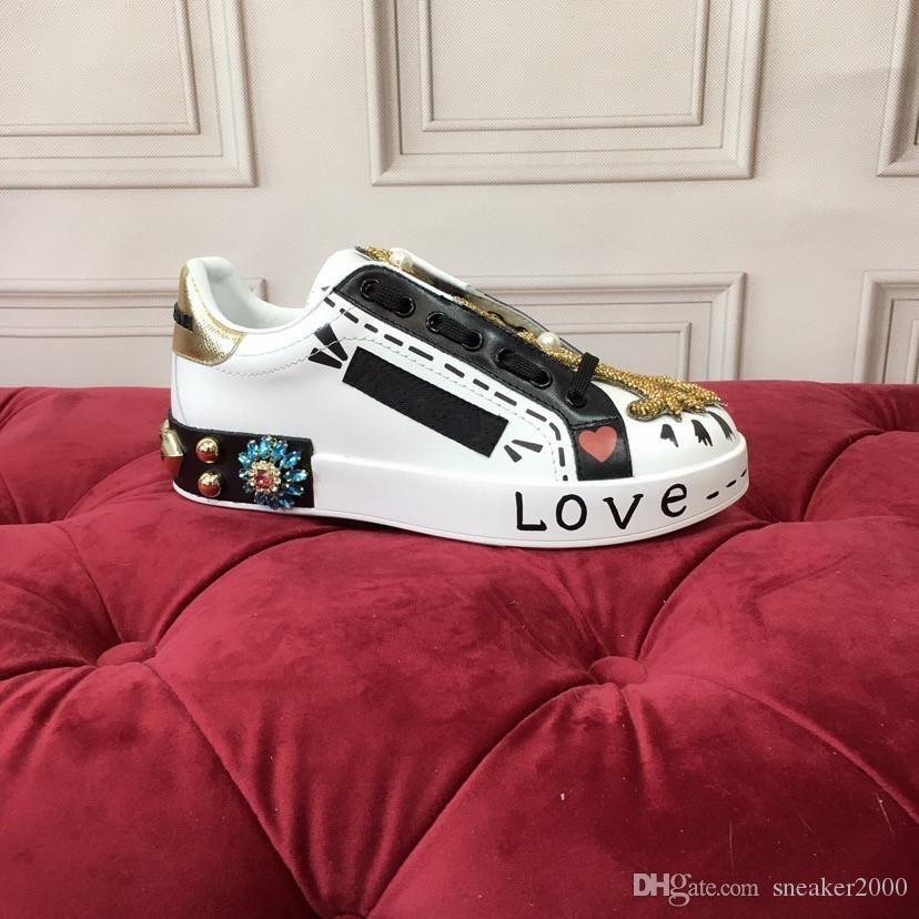 2020 instrutor Vintage Mens Casual sapatos de plataforma de luxo de moda Designer Mulheres Sapatilhas de couro laranja Shoes Alpercatas hc19120801