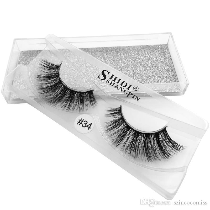 (novo) Sexy 100% mão 3D vison cabelo beleza grossa sólida vison lã cílios falsos de alta qualidade entrega gratuita