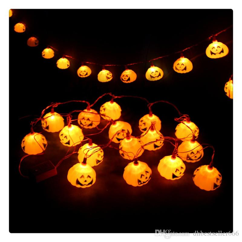 16pcs LEDs Halloween Pumpkin Holiday Decoration String Lights Flexible Wire Can Easily Build the Shapes You Want