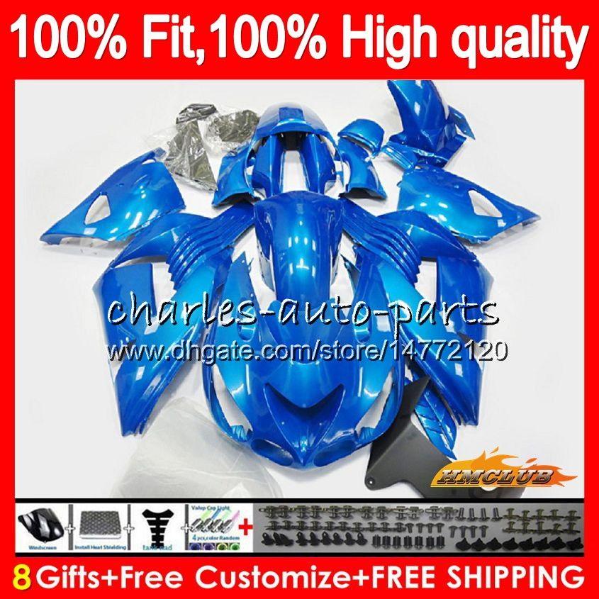 Injection For KAWASAKI ZX 14R ZZR 1400 ZX-14R 2012 2013 2014 2015 2016 2017 53HC.127 ZZR1400 ZX14R 12 13 14 15 16 17 metal blue OEM Fairing