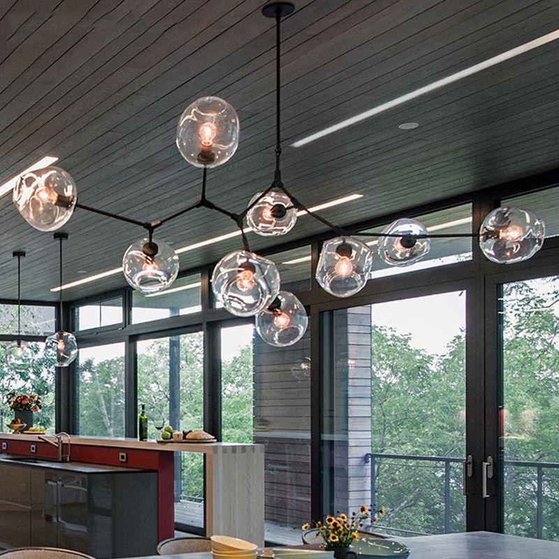거실 침실 부엌 북유럽 현대 샹들리에 산업 LED 램프 천장 샹들리에 조명 전등을 매달려