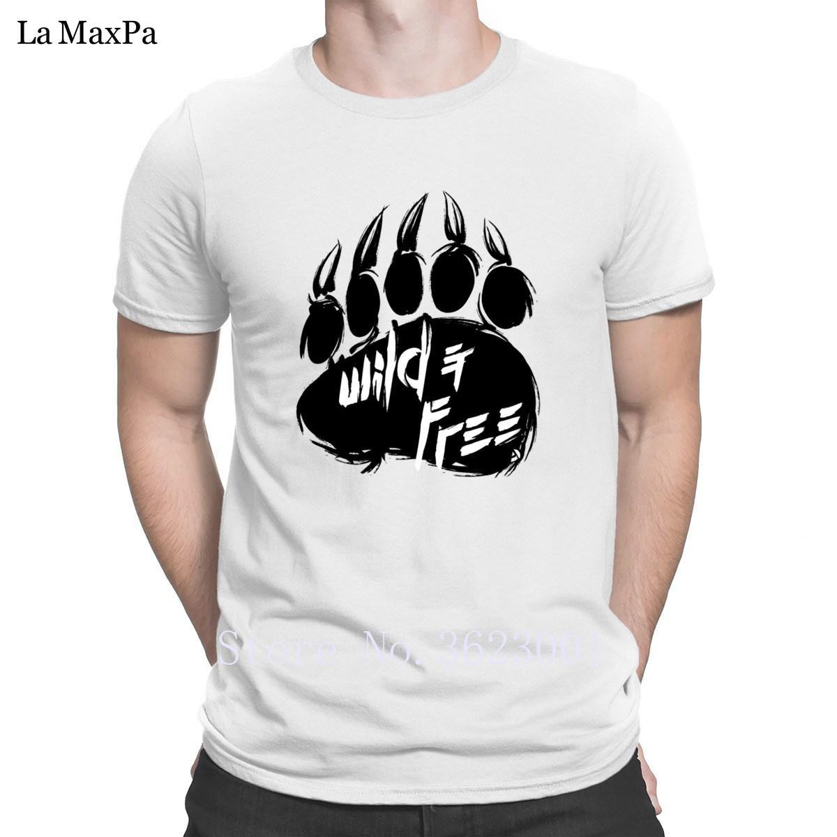 Humour Personnalité Tshirt hommes Ad Ours Fooprint T-Shirts pour hommes Trendy T-shirt pour les hommes autour du cou Cheap Sale