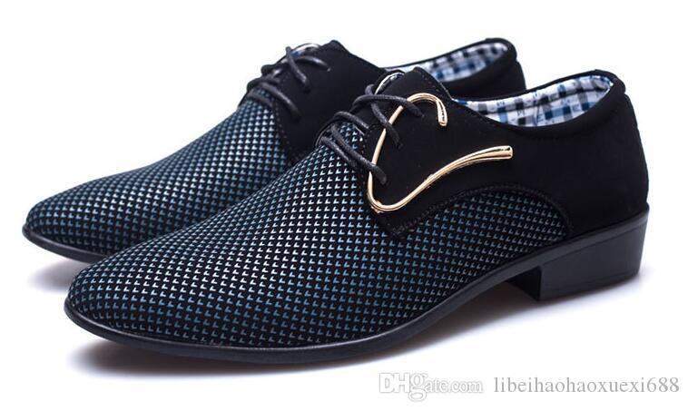 NEW Shoes For Men Formal Shoes Spring Pointed Toe Wedding Business Male Fashion Casual Shoes Size 38-45. Free shipping