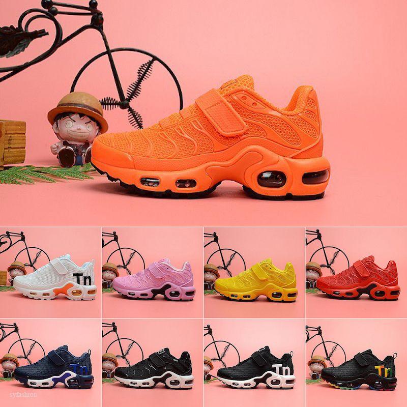 Nike Air Max Mercurial Tn Plus Yeni Tasarımcı yürümeye başlayan çocuklar kpu Mercurial Artı TN Gökkuşağı Atletik Ayakkabı pour enfants Erkekler Kızlar Ayakkabı tns Spor Sneakers