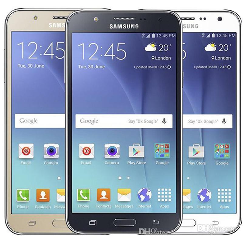Original rénové Samsung Galaxy J7 J700F Dual Sim Sim de 5,5 pouces Écran LCD OCTA CORE 1.5GB RAM 16GB ROM 13MP 4G LTE TÉLÉPHONE DU DHL 5PCS