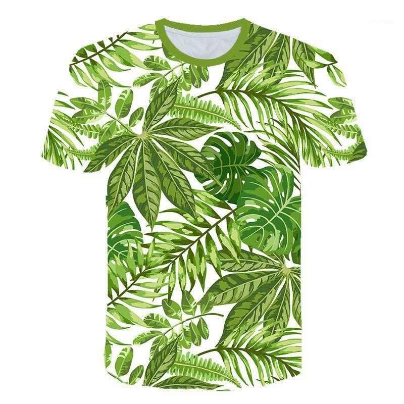 Tshirt Colorful Hawaiian Style Short Summer Sleve Tshirt Homme Crew Neck عادي مصمم قماش