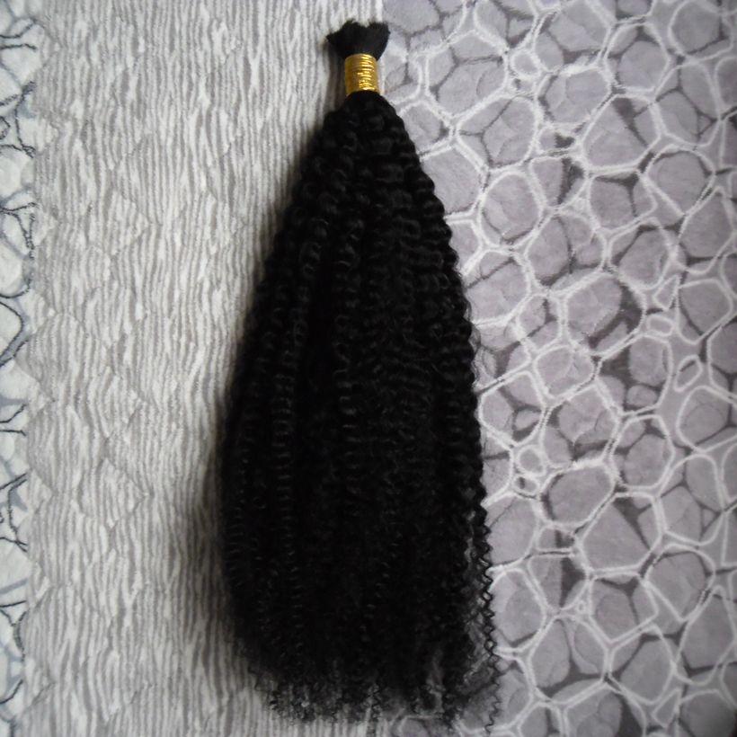 Tranças 100g Humano massa Bulk Blond 100% cabelo afro crespo cabelo encaracolado Brasileira Natural Raw
