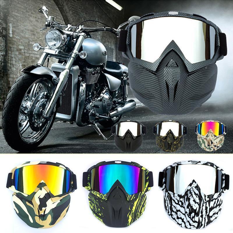 En plein air Masque temps froid coupe-vent anti-buée équitation moto Casque Lunettes ALS88