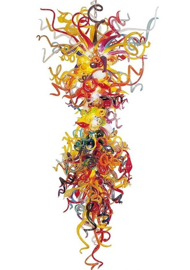 Lâmpada multi-cor grandes lustres luzes LED lâmpadas Itália lâmpadas de lâmpadas de lâmpadas de vidro soprado arte pingente de arte para decoração de casa