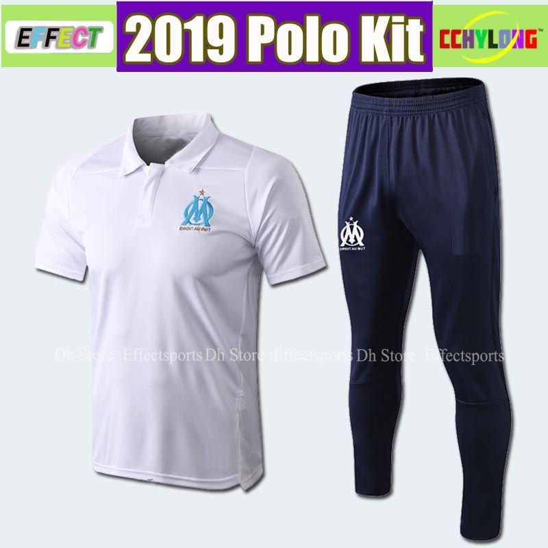 Survetement 18/19 Olympique de Marseille Soccer POLO Kit Sportswear Maillot De Foot 2019 PAYET BALOTELLI THAUVIN Football Shirt Uniforms