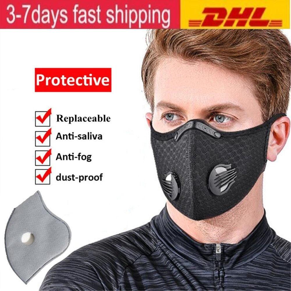 EEUU Stock Ciclismo mascarilla de las máscaras a prueba de polvo de la boca de la máscara de protección facial al aire libre a prueba de polvo máscara de respiración respirador de deporte Accesorios