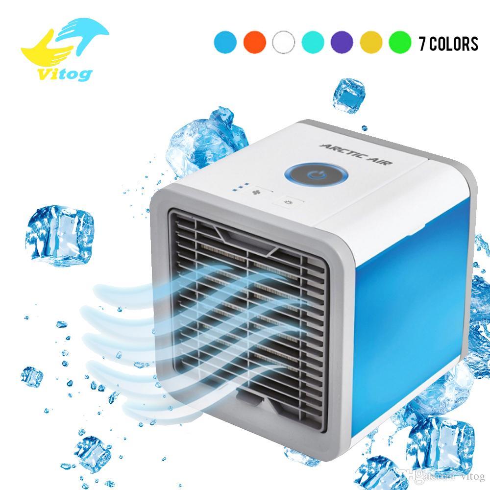 Portable USB Mini Cooler Fan Air Conditioner Car Bedroom Personal Desktop Office