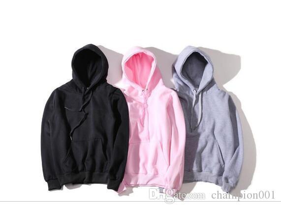 Las nuevas mujeres con capucha de los hombres del deporte camiseta de tamaño S-XXL 5 Color mezcla de algodón grueso suéter con capucha diseñador de manga larga Streetwear