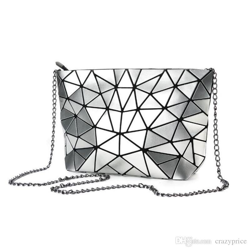 النساء مصمم حقائب المعين الفاصل امرأة حقيبة الهندسية شعرية سلسلة حقيبة فتاة CROSSBODY حقيبة ماكياج منظم CYL-YW1016