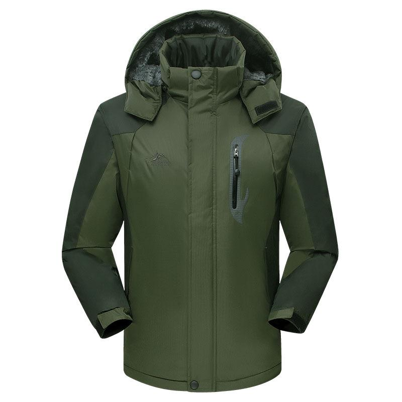 Outdoor COUPLES Raincoat Jacket for Men And Women Winter Plus Velvet Thick Plus-sized Thick Wind-Resistant Warm Mountaineering
