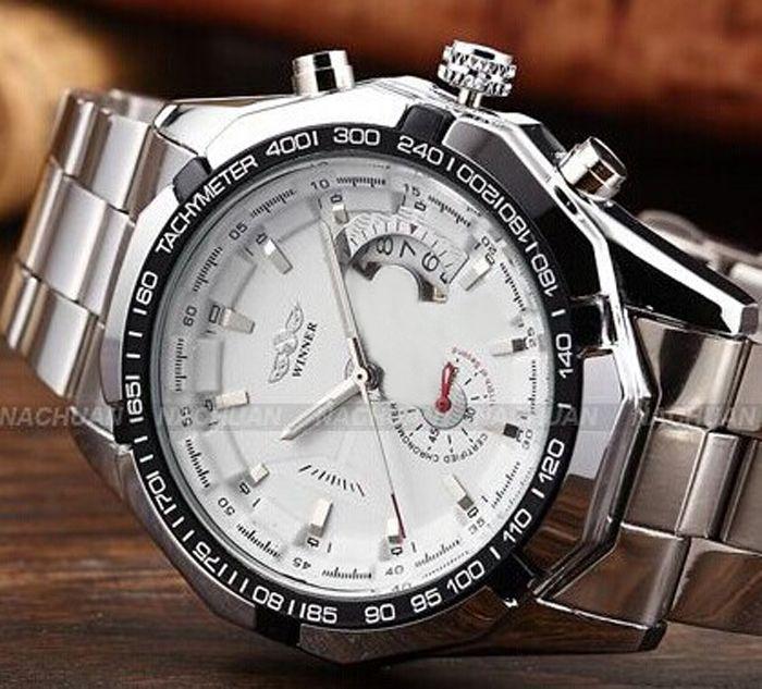 2020 New Men Moda montre Winner Marca Horloges mannen Branco Elegante Esqueleto clássico automáticas relogios homens relógio mecânico Assista