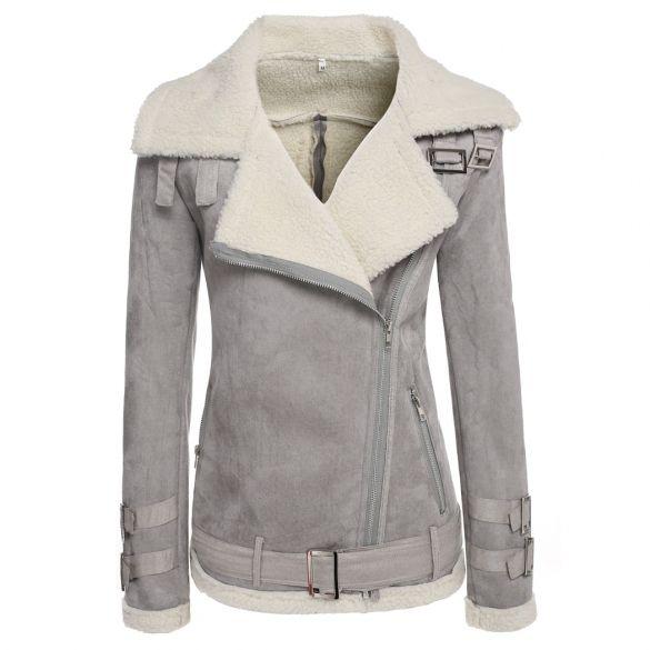 Marca Designer-Womens Lambs casaco de lã Aviator Leather Jacket Casaco de Inverno Grosso Mulheres lapela Fur Tops Casacos femininos